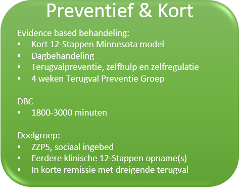 preventief en kort afkicken verslaving